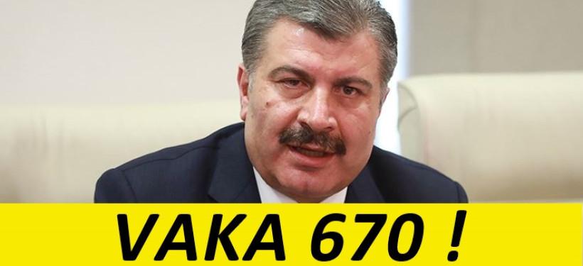 Türkiye Korona Virüs Vakası 670 !