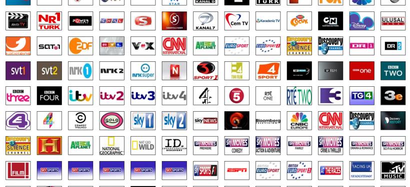 Türkiye'de yayın yapan aktif ve kapanmış kanal listesi